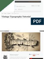 Www Gomediazine Com Tutorials Vintage Typography Tutorial