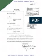 34.0 Stipulation and Order of Dismissal