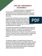 TEORÍA DEL CRECIMIENTO ECONÓMICO