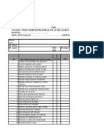 Senarai Semak PBS BAHASA ARAB FORM 1 2013