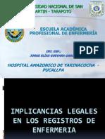 Implicancioas Legales en Los Registros de Enfermeria