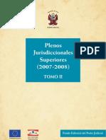 PLENOS JURISDICCIONALES SUPERIORES 2007-2008