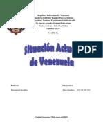 SITUACIÓN ACTUAL DE VENEZUELA