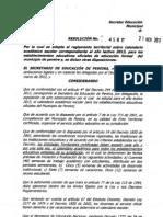 RESOLUCION 4581 211112 CALENDARIO ACADEMICO 2013