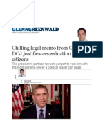 05-02-13 Chilling Legal Memo From Obama DOJ Justifies Assassination of US Citizens