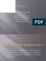 Resolución  2013