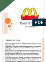 Mcdonald Case Studyanalysis