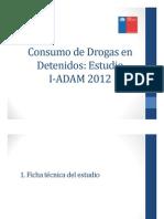 cONSUMO de DROGAS en dETENIDOS Fundacion Paz Ciudadana en Chile 2012