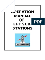 Operation Manual of EHT Sub-Station