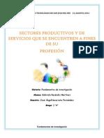 Sectores Productivos y de Servicio a Fines de Su Profesion