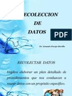 Recoleccion de Datos 2012 -2013