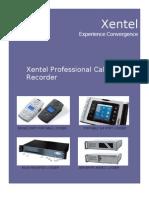 Xentel Trec Telephone Logger Brochure