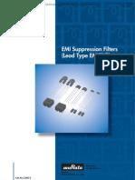 Murata  EMI Suppression Filters (Lead Type)