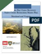 The Native Oyster Restoration Master Plan