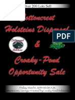 Sale Catalog - Cottoncrest Dispersal and Croaky-Pond Opportunity Sale