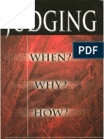 Judging When Why How - Derek Prince