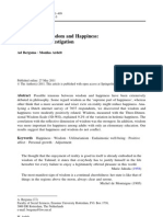 Self-Reported Wisdom and Happiness