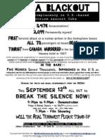 2011-09-12 - media blackout break the silence now - flyer