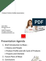 BLAZE Automation Profile 2011 by Sridhar Ponugupati