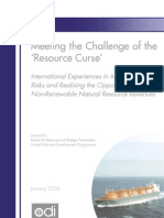 Meeting the Chlallenge of Resource Curse