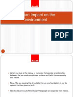 Human Impact on Environment BLAZE AUTOMATION