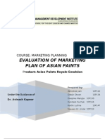 MDI GURGAON 37039193 Marketing Plan of Asian Paints Group4