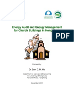 Energy Audit and Energy Management for Church Buildings in Hong Kong