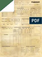 Conan Character Sheet