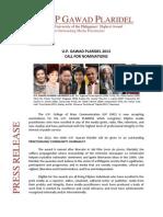 Gawad Plaridel 2013 Press Release