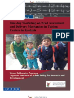 Need Assessment and Delivery Mechanism in Tuition Centers in Kashmir Report
