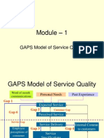 M1 GAPS Model of Service Quality