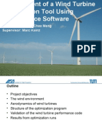 Wind Turbine Aerodynamics Optimization
