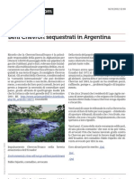 Beni Chevron Sequestrati in Argentina