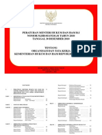 Organisasi dan Tata Kerja (ORTA) Kemenkumham 2010