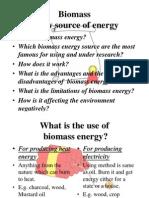 Biomass Energy