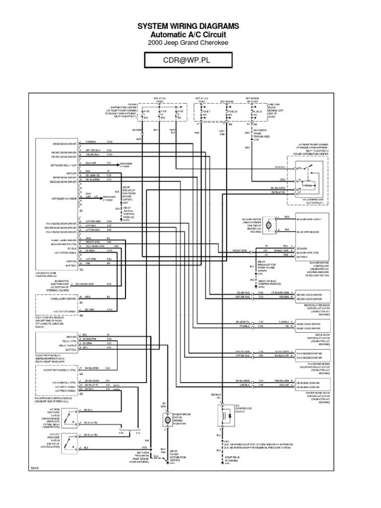 1997 Jeep Cherokee Wiring Diagram Charging System - Wiring Diagram