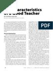 Ten Characteristics of a Good Teacher