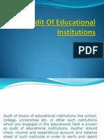Audit of Educational Institutions