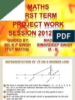 Maths Project 2012 -By Simardeep (IX - B)