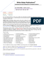 Call for Papers Volume 3 - Issue 3
