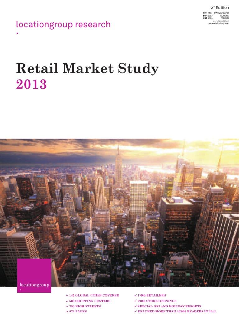 de93ce7a9d Retail Market Study 2013 | Zürich | Retail