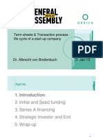 ORRICK Term Sheets + Transaction Process