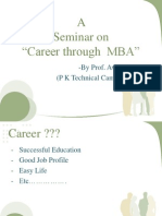 A Seminar on MBA