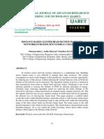 DISTANCE BASED CLUSTER HEAD SECTION IN SENSOR NETWORKS FOR EFFICIENT ENERGY UTILIZATION