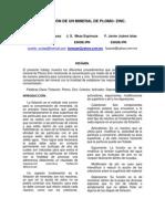 MI 203 FLOTACIÓN DE UN MINERAL DE PLOMO ZINC