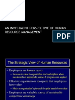 An Investment Perspective of Human Resource Management (Powerpoint Presentation)