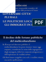 Intervento Maurizio Ambrosini presentazione rapporto annuale immigrazione 2012 in Trentino