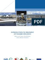 Introduction to Treatment of Tannery Effluents