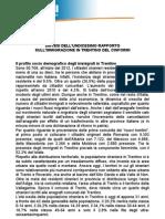 Nota stampa presentazione rapporto annuale sull'immigrazione in Trentino 2012