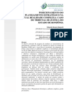 POSICIONAMENTO DO PLANEJAMENTO ESTRATÉGICO NA ATUAL REALIDADE COMPLEXA- CASO DO TRIBUNAL DE JUSTIÇA DO ESTADO DE RONDÔNIA